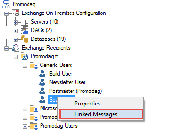 Display messages related to a recipient
