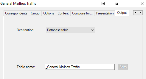 Export report to database