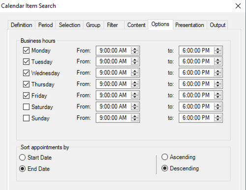 Set custom business hours in your meeting room usage report