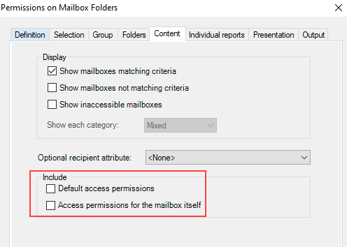 Make your report clearer by excluding default permissions